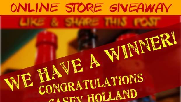 Online Store Giveaway Winner!