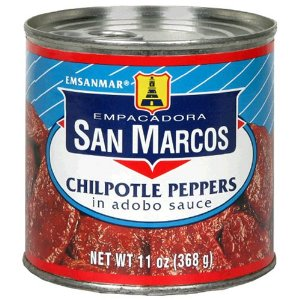 San Marcos Chipotle Peppers in Abodo Sauce 312gm