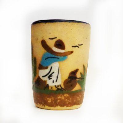 Mexican Handmade Clay Shot Glass